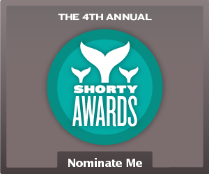 Nominate Calvin for a social media award in the Shorty Awards!