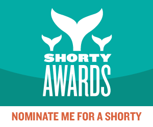 Nominate KindnessbyDesign for a social media award in the Shorty Awards!