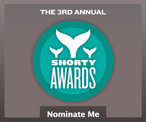 Nominate Geneva Relf  for a social media award in the Shorty Awards!